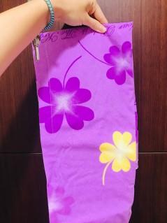步驟三:圍上浴巾