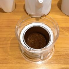 ❷拍平咖啡粉
